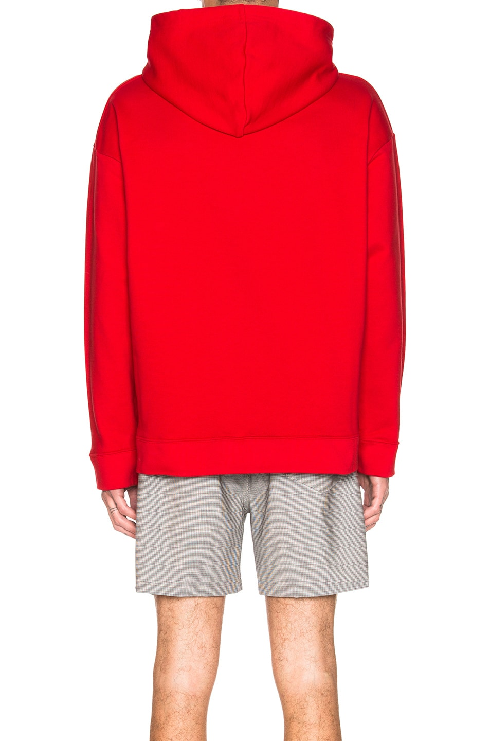 Image 4 of Raf Simons Classic Graphic Hoodie in Red