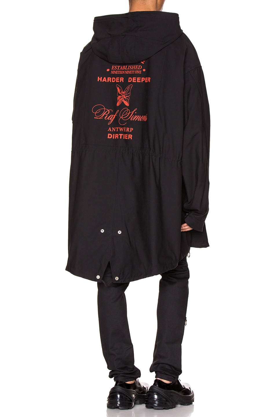 Image 1 of Raf Simons Mid Length Parka in Black
