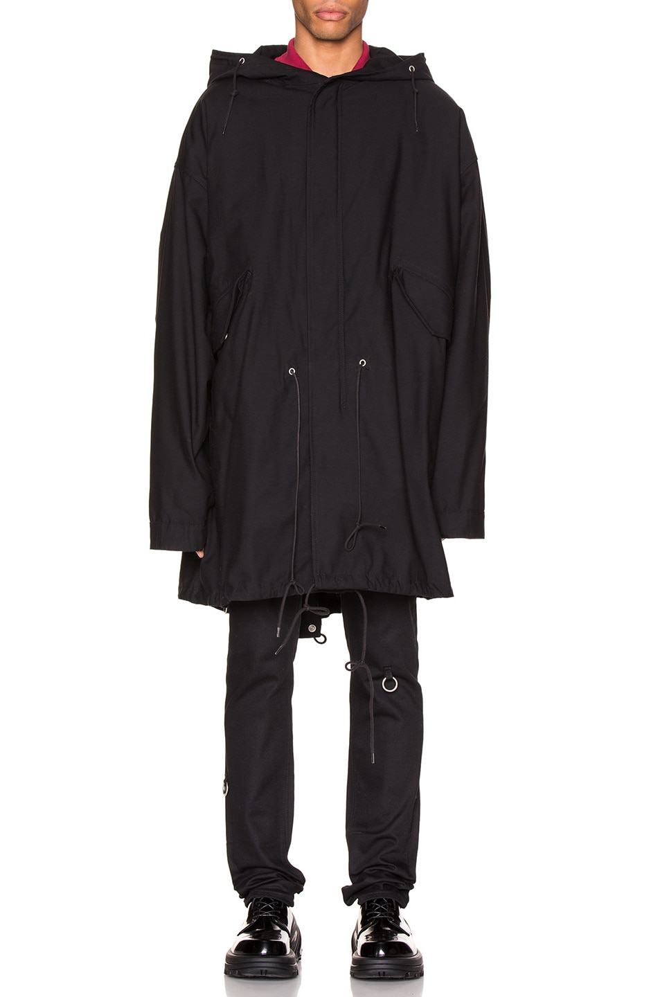 Image 3 of Raf Simons Mid Length Parka in Black