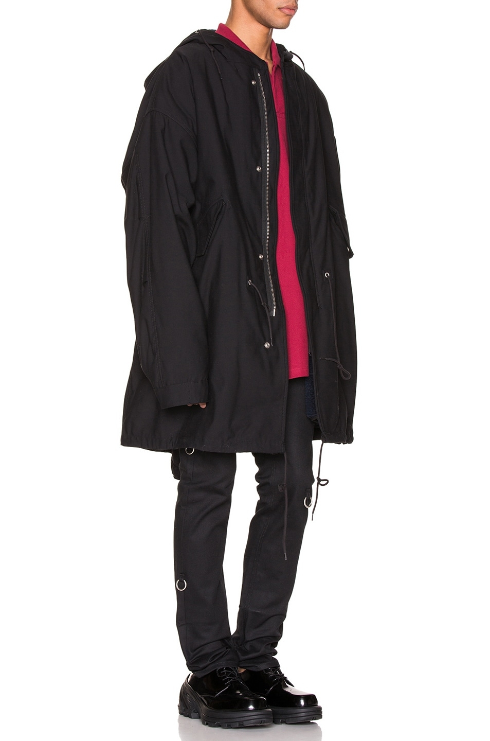 Image 4 of Raf Simons Mid Length Parka in Black