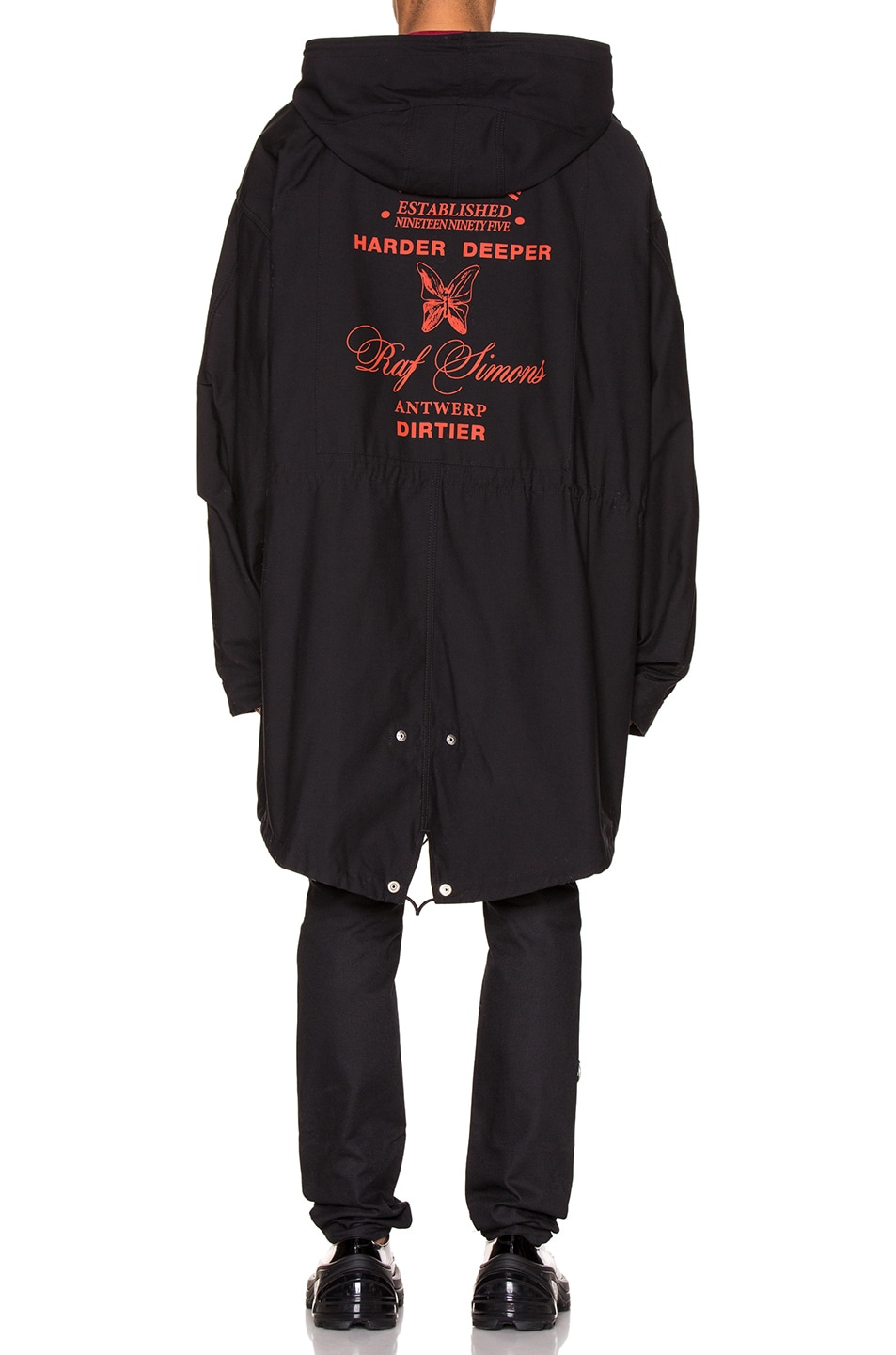 Image 5 of Raf Simons Mid Length Parka in Black