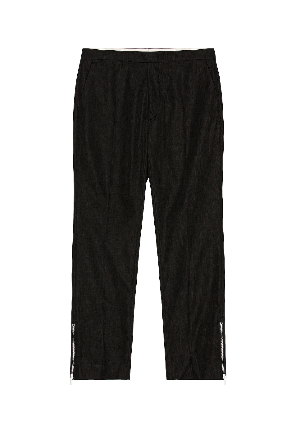 Image 1 of Raf Simons Slim Fit Pants With Ankle Zips in Black
