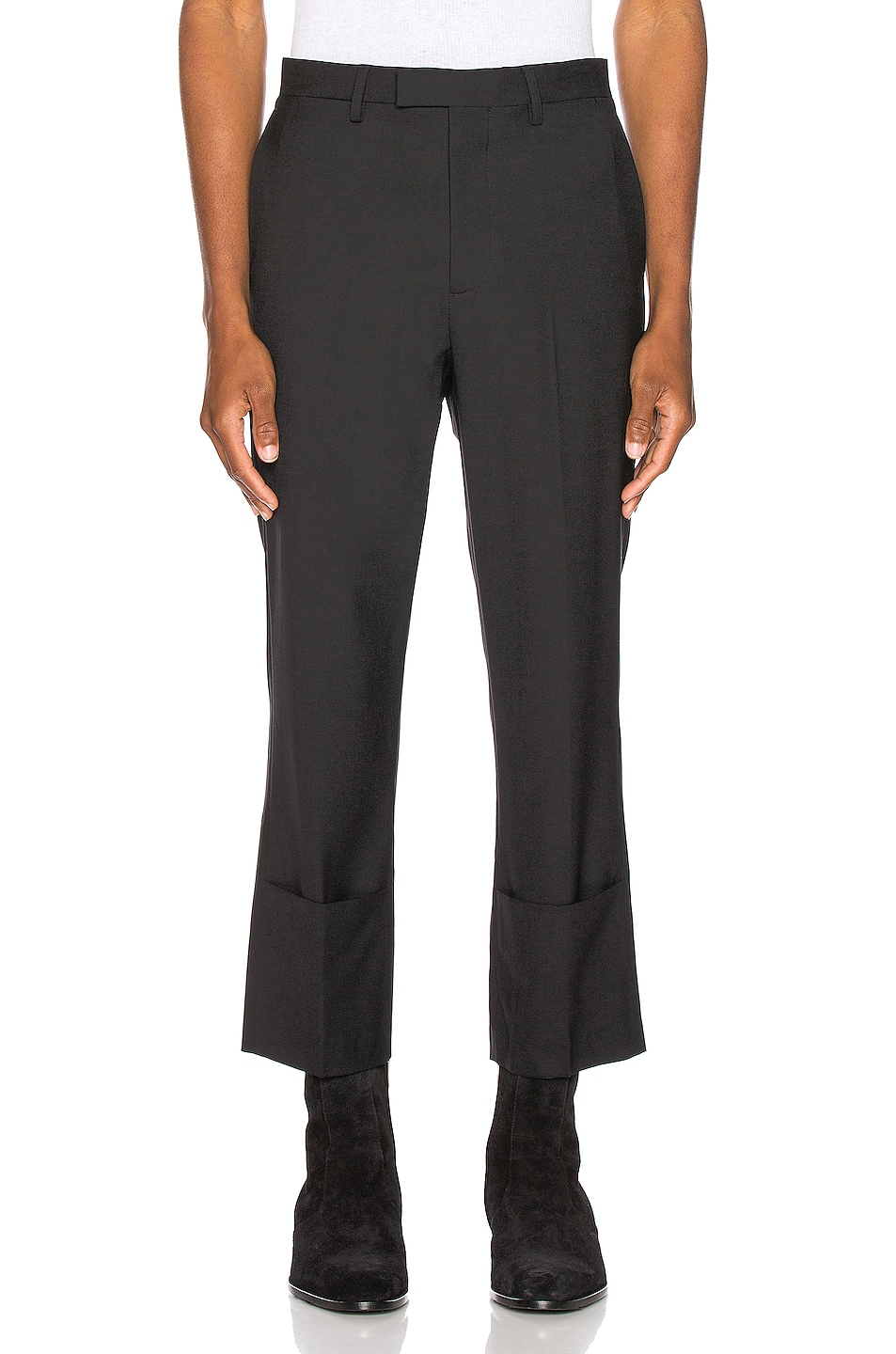 Image 1 of Raf Simons Slim Fit Cropped Pants in Black