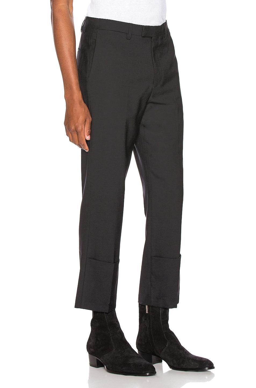 Image 2 of Raf Simons Slim Fit Cropped Pants in Black
