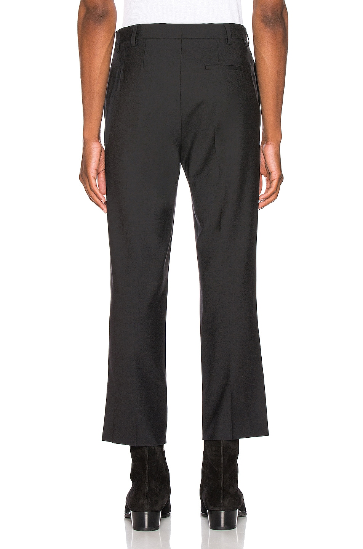 Image 3 of Raf Simons Slim Fit Cropped Pants in Black