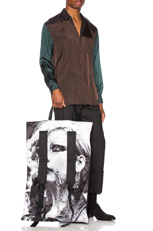 Image 4 of Raf Simons Slim Fit Cropped Pants in Black