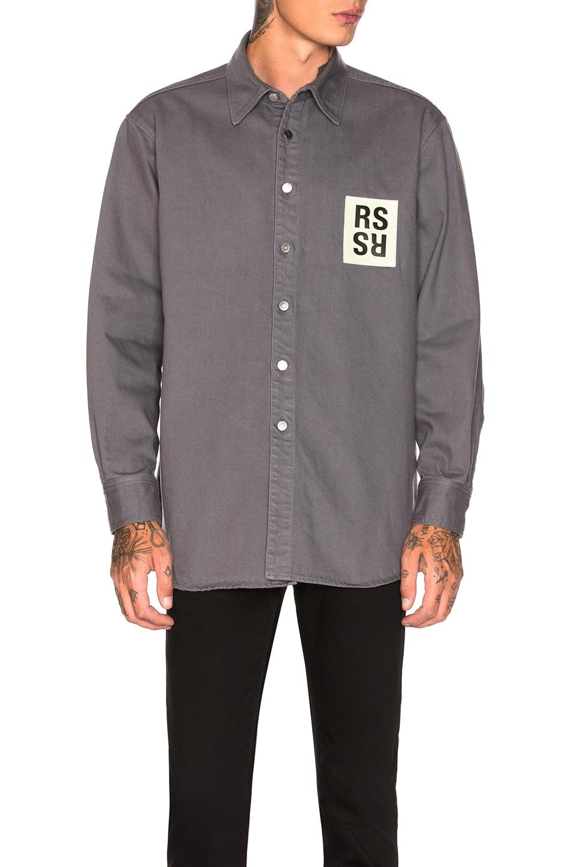 b6ac76523 Image 1 of Raf Simons Denim Shirt in Grey