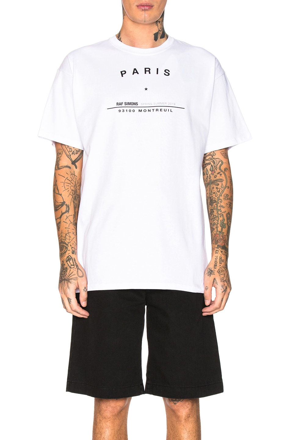 Image 1 of Raf Simons Big Fit Tour Graphic Tee in White