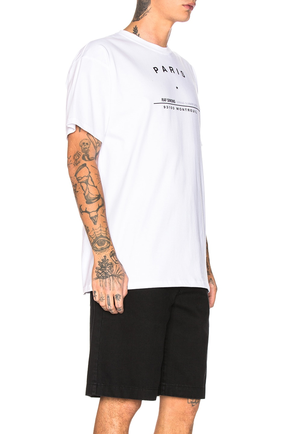 Image 2 of Raf Simons Big Fit Tour Graphic Tee in White