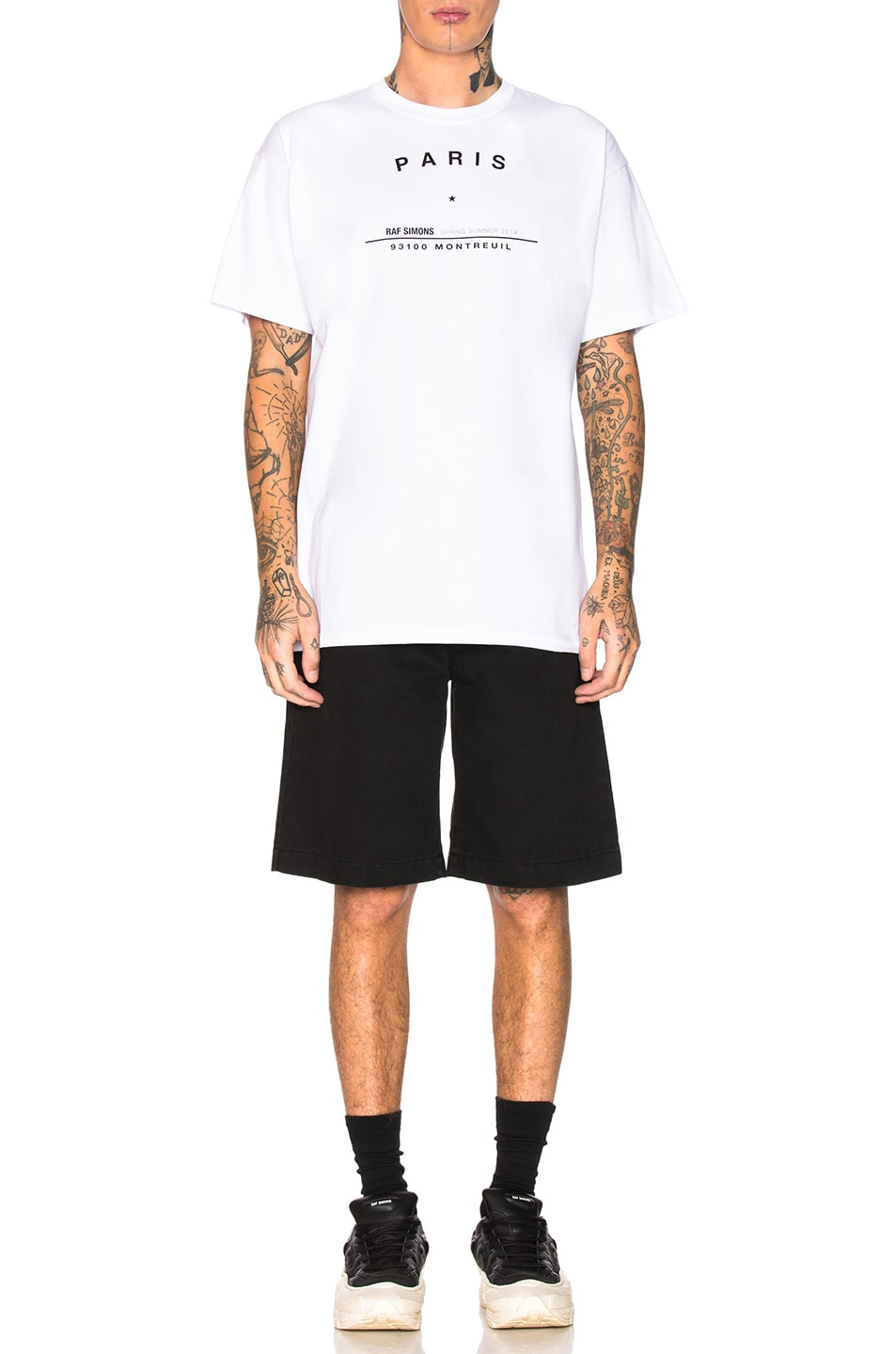 Image 4 of Raf Simons Big Fit Tour Graphic Tee in White
