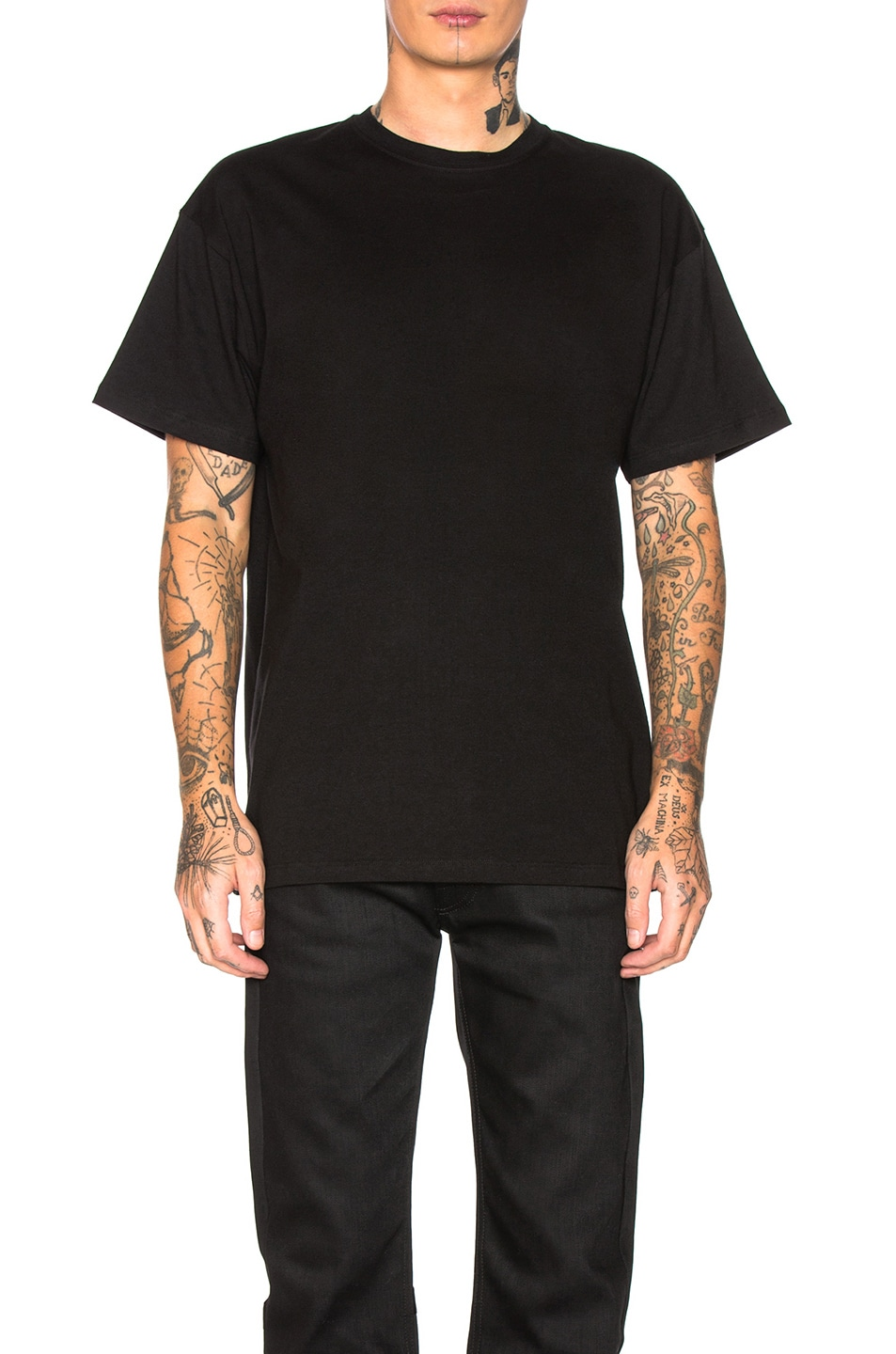 Image 2 of Raf Simons Big Fit Green Frame Toya Graphic Tee in Black