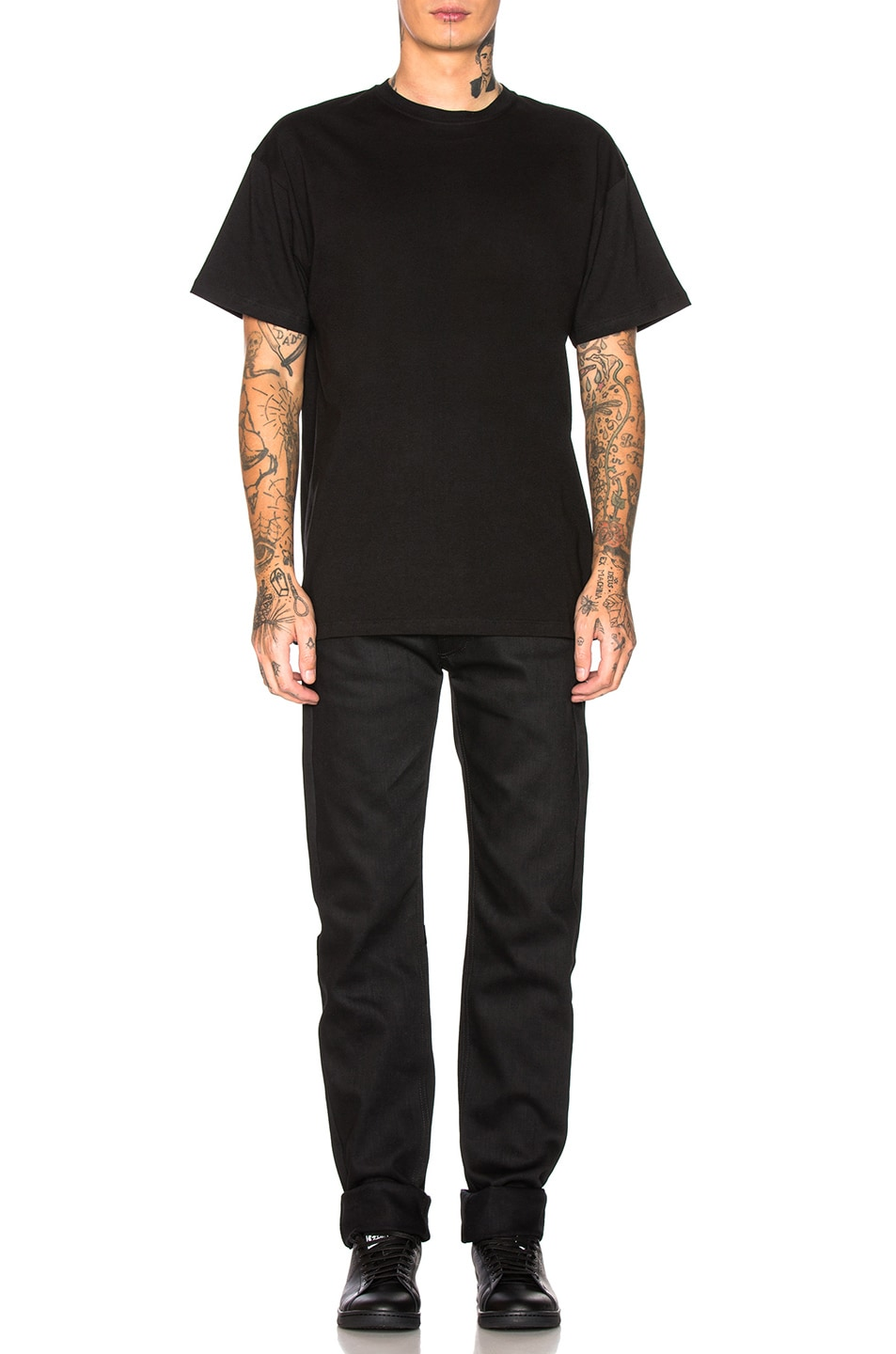 Image 5 of Raf Simons Big Fit Green Frame Toya Graphic Tee in Black