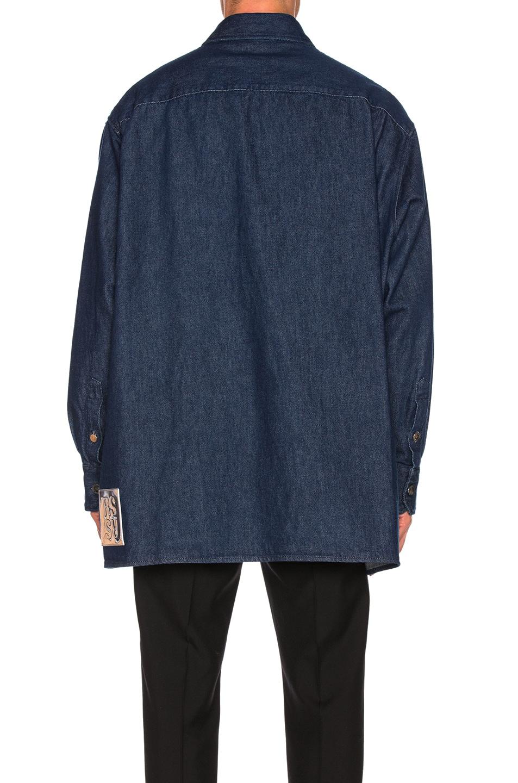 Image 5 of Raf Simons Big Fit Zipper Shirt in Dark Navy