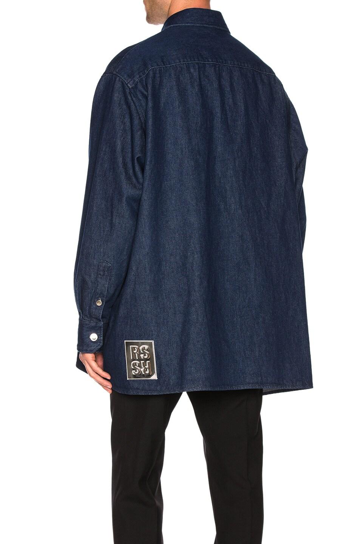 Image 6 of Raf Simons Big Fit Zipper Shirt in Dark Navy