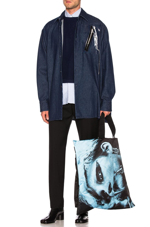Image 7 of Raf Simons Big Fit Zipper Shirt in Dark Navy