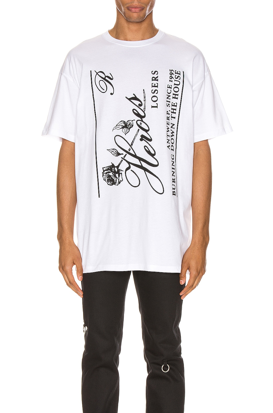 Image 1 of Raf Simons Heroes Tee in White