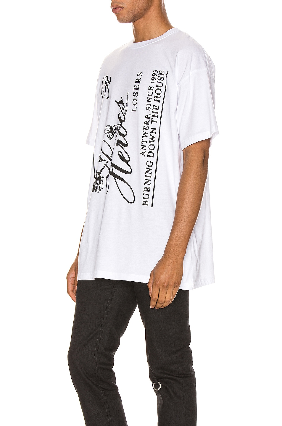 Image 3 of Raf Simons Heroes Tee in White