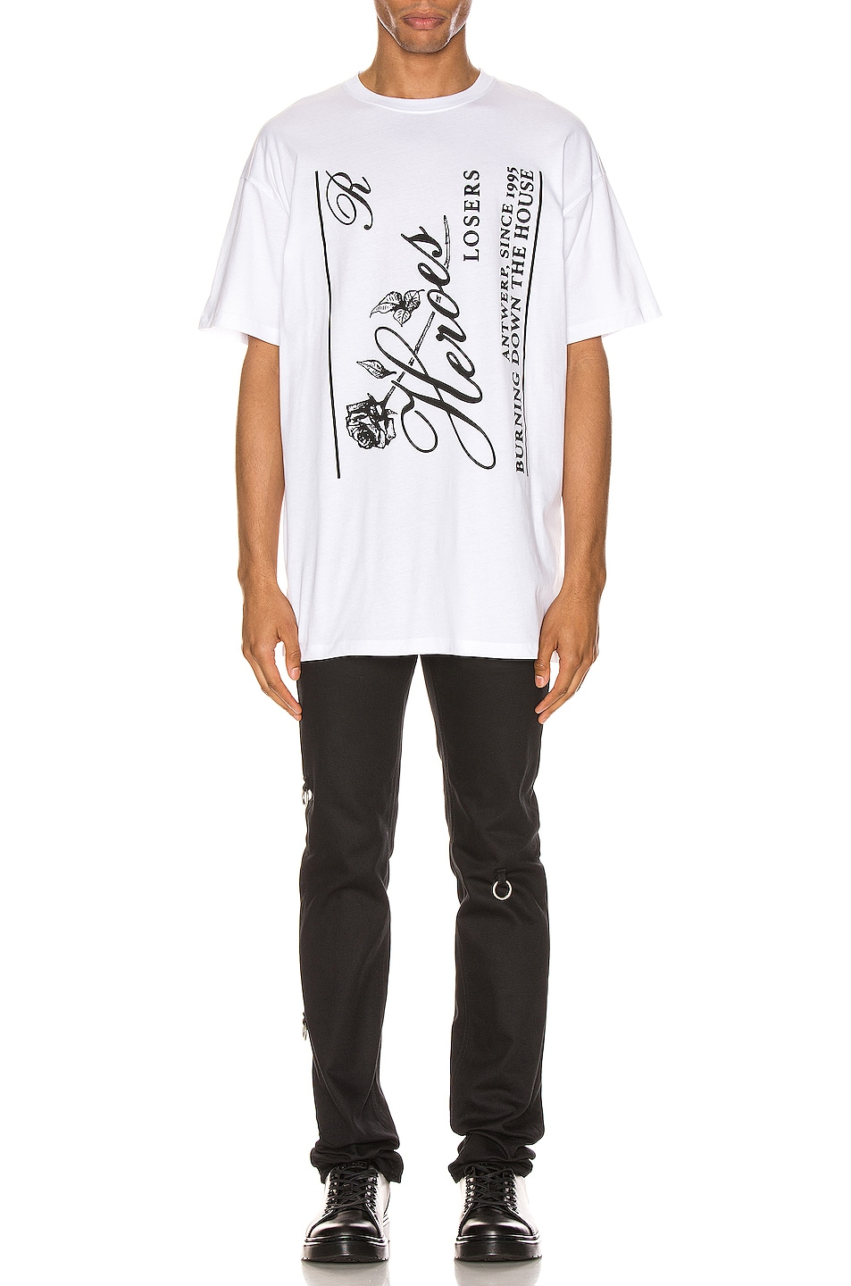 Image 5 of Raf Simons Heroes Tee in White