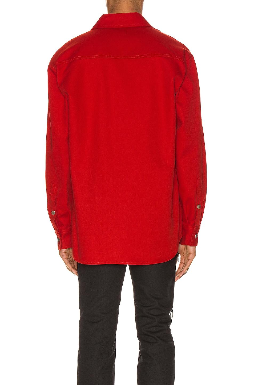 Image 4 of Raf Simons Denim Shirt in Red