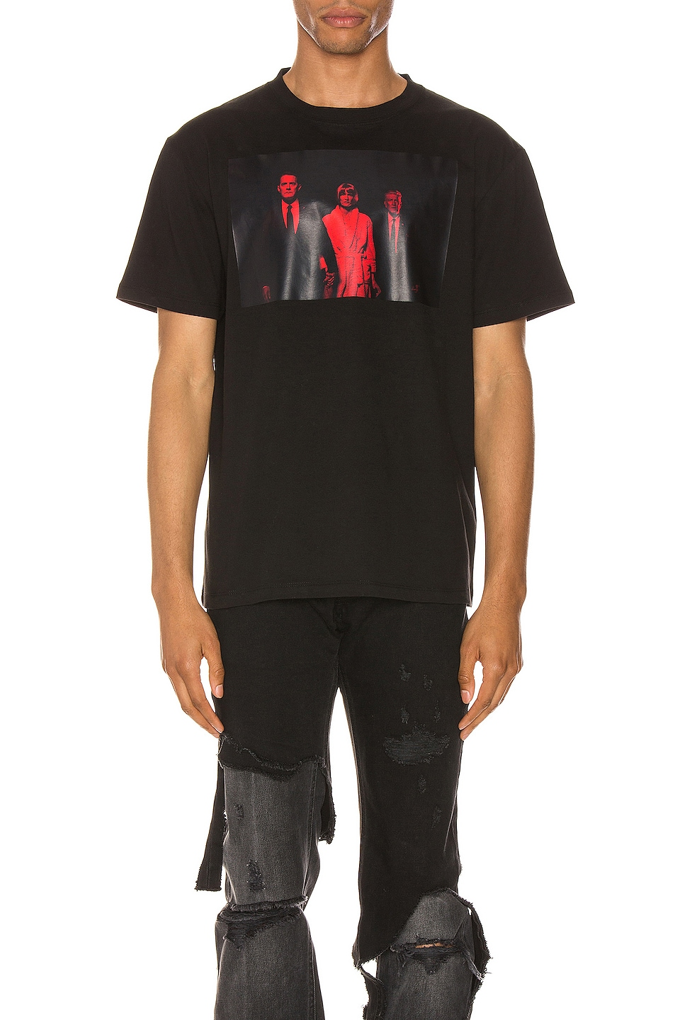 Image 1 of Raf Simons Twin Peaks Tee in Black