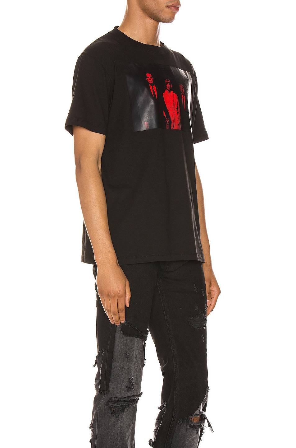 Image 2 of Raf Simons Twin Peaks Tee in Black