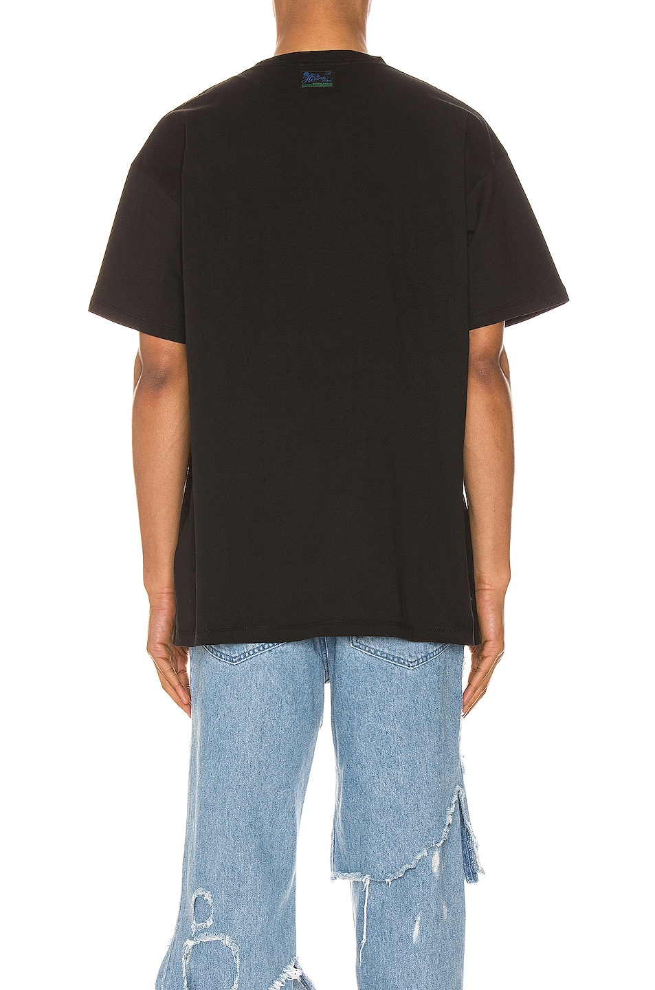 Image 3 of Raf Simons Blue Couple Tee in Black