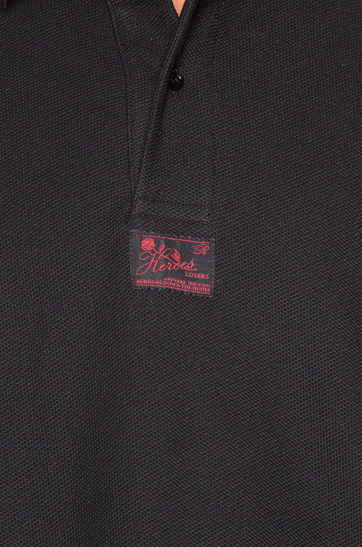 Image 5 of Raf Simons Long Sleeve Polo in Black