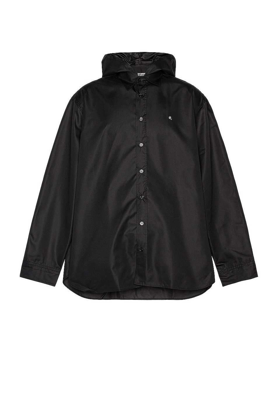 Image 1 of Raf Simons Big Fit R-Shirt With Hood in Black