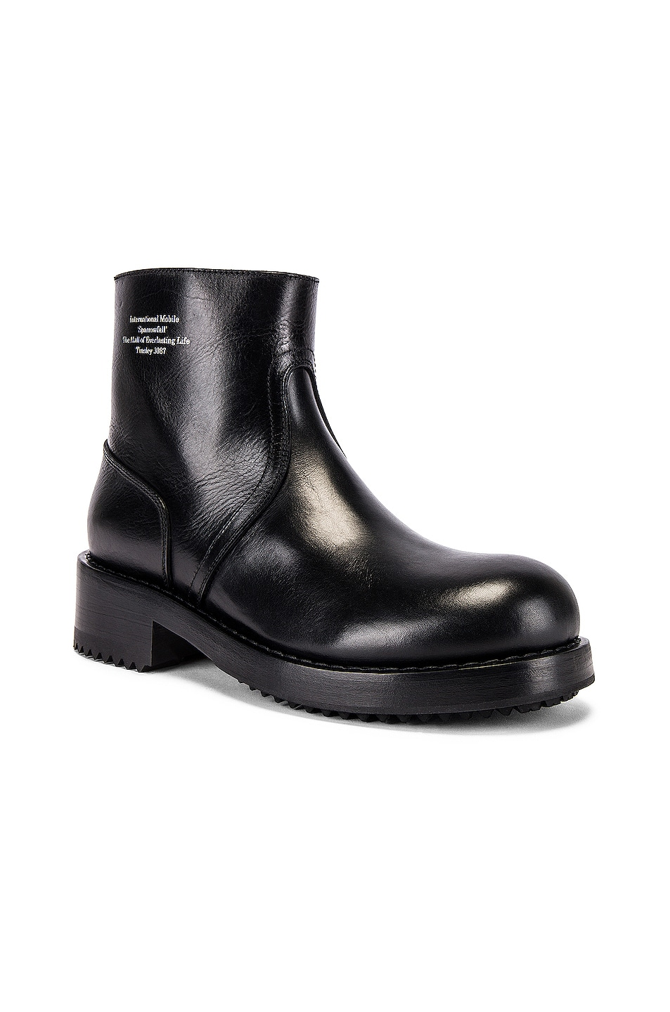 Image 1 of Raf Simons Ankle Boot in Black