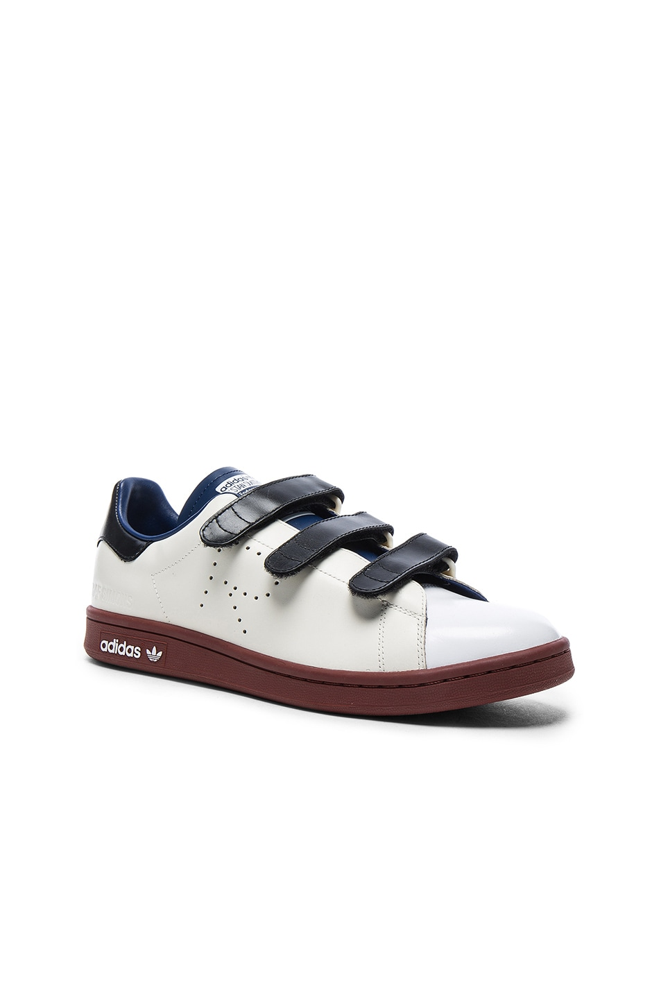 low cost f5f91 16859 Image 1 of Raf Simons x Adidas Leather Stan Smith Sneakers in Cream White,  Dark