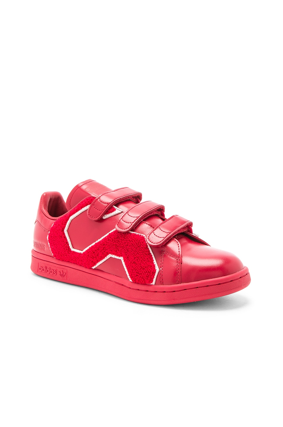 Image 1 of Raf Simons x Adidas RS Stan Smith Comfort Badge in Power Red 11be03fde