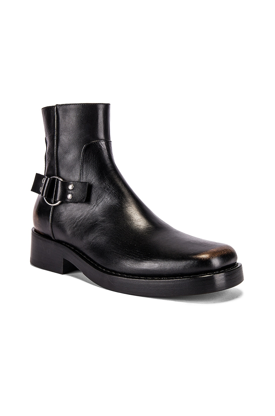 Image 1 of Raf Simons High Sole Strap Boot in Black