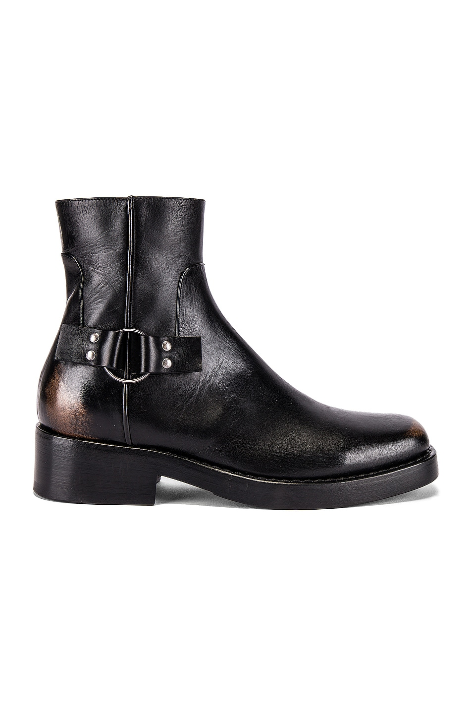 Image 2 of Raf Simons High Sole Strap Boot in Black