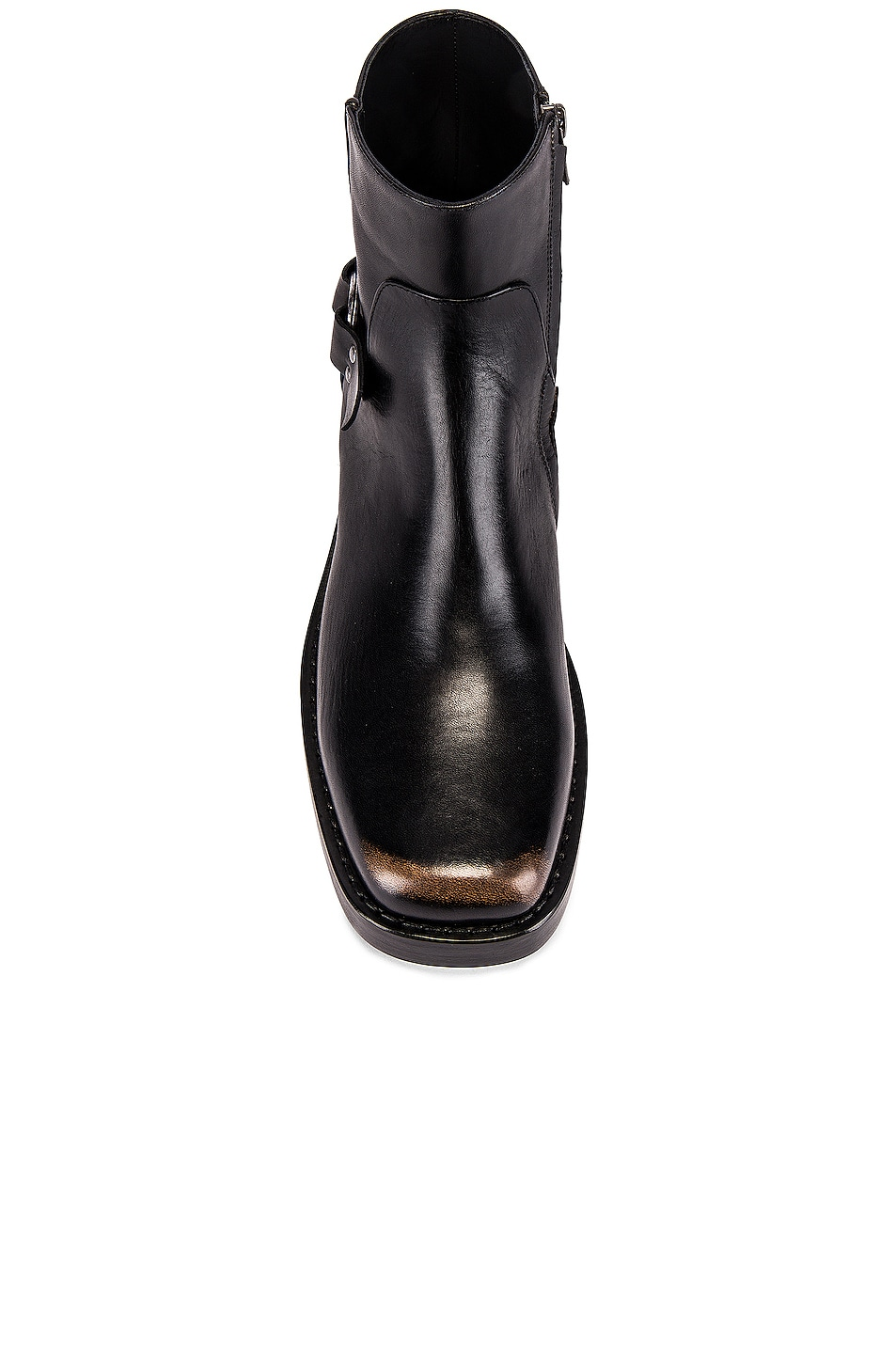 Image 4 of Raf Simons High Sole Strap Boot in Black