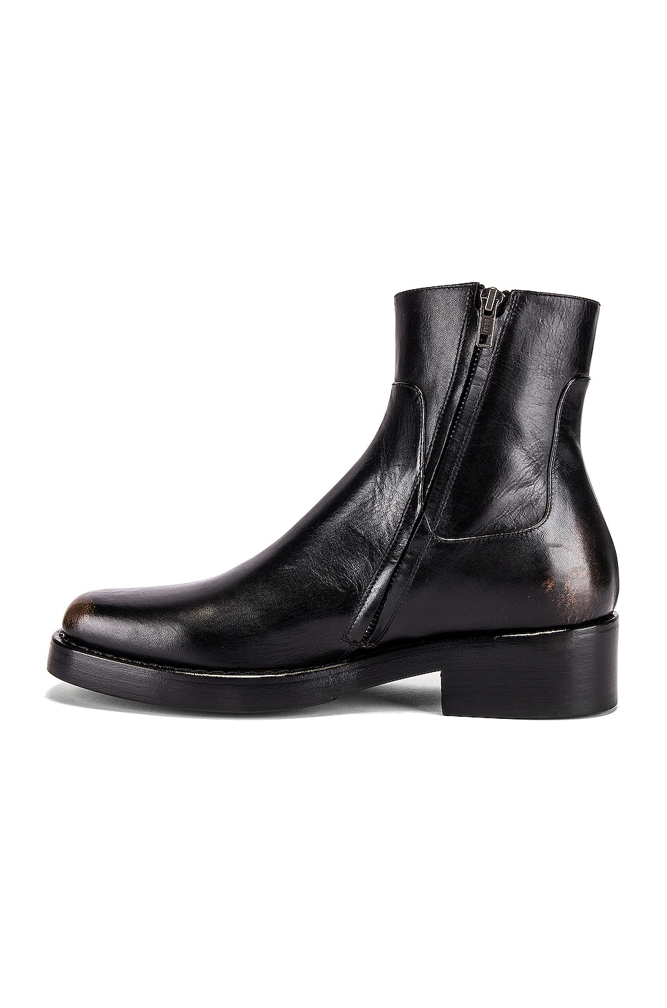 Image 5 of Raf Simons High Sole Strap Boot in Black