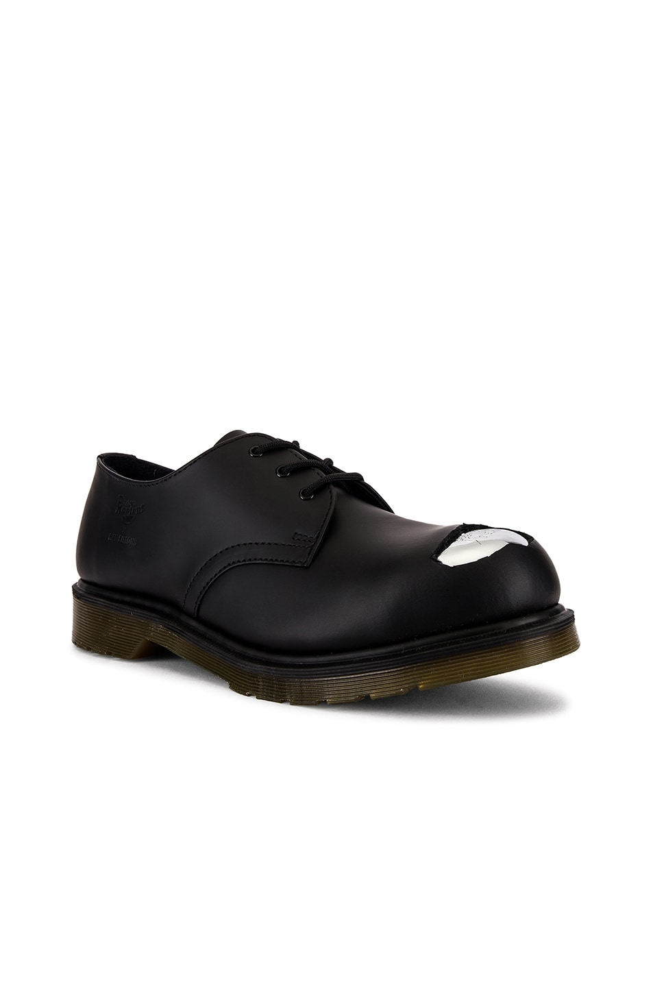 Image 1 of Raf Simons x Dr. Martens Cut Out Steel Toe Shoes in Black