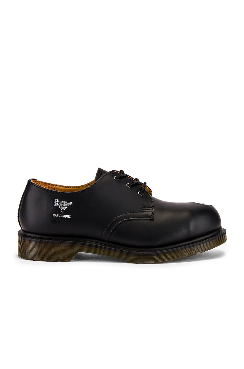 Image 2 of Raf Simons x Dr. Martens Asymmetric Cut Out Steel Shoe in Black