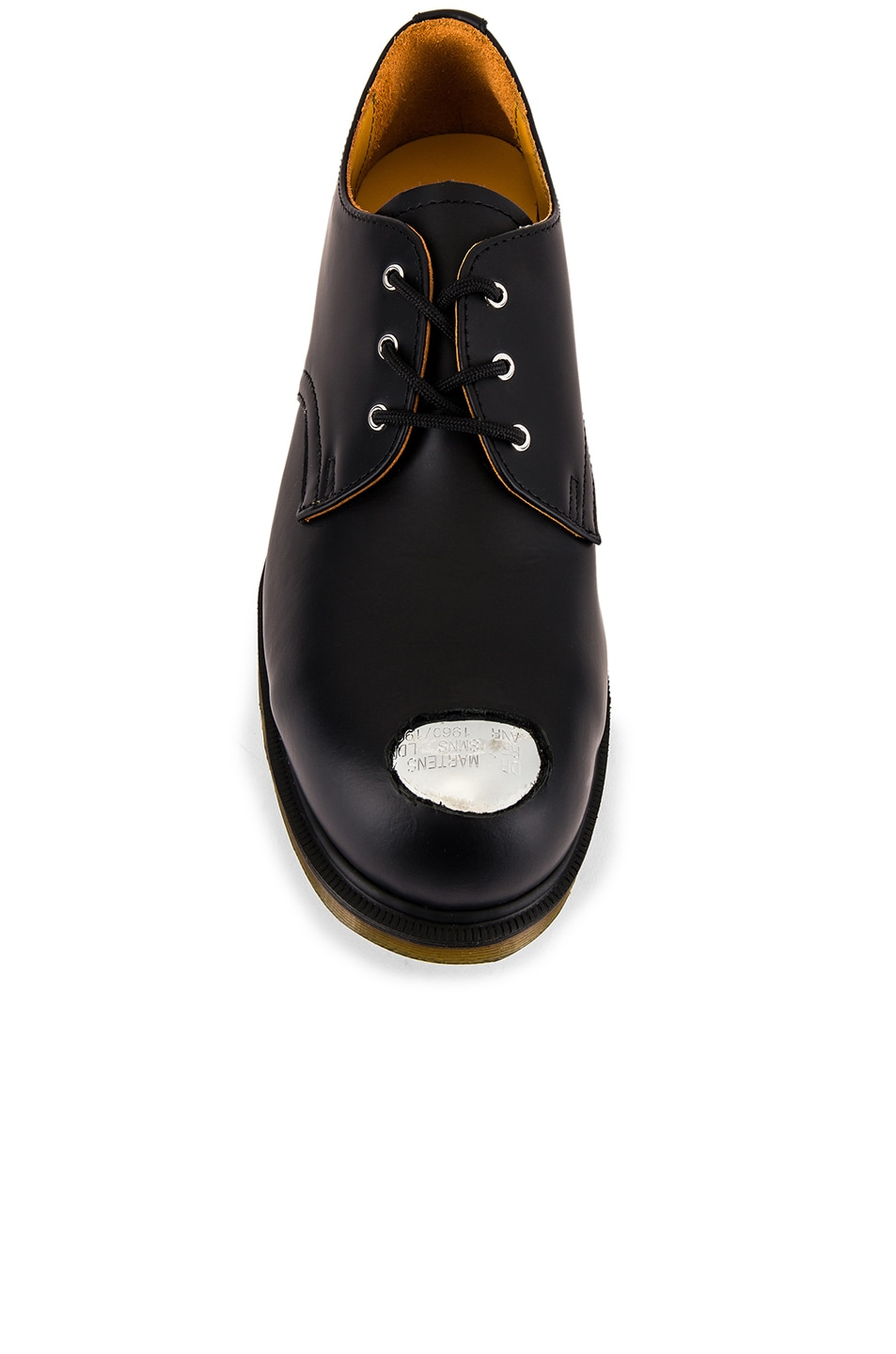 Image 4 of Raf Simons x Dr. Martens Asymmetric Cut Out Steel Shoe in Black