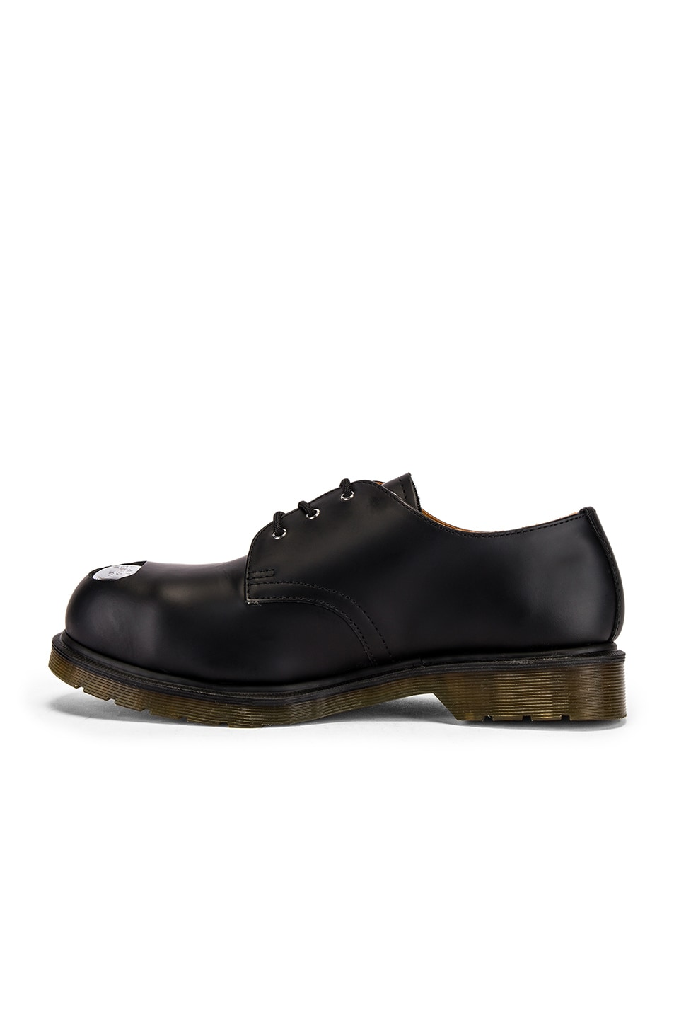 Image 5 of Raf Simons x Dr. Martens Asymmetric Cut Out Steel Shoe in Black