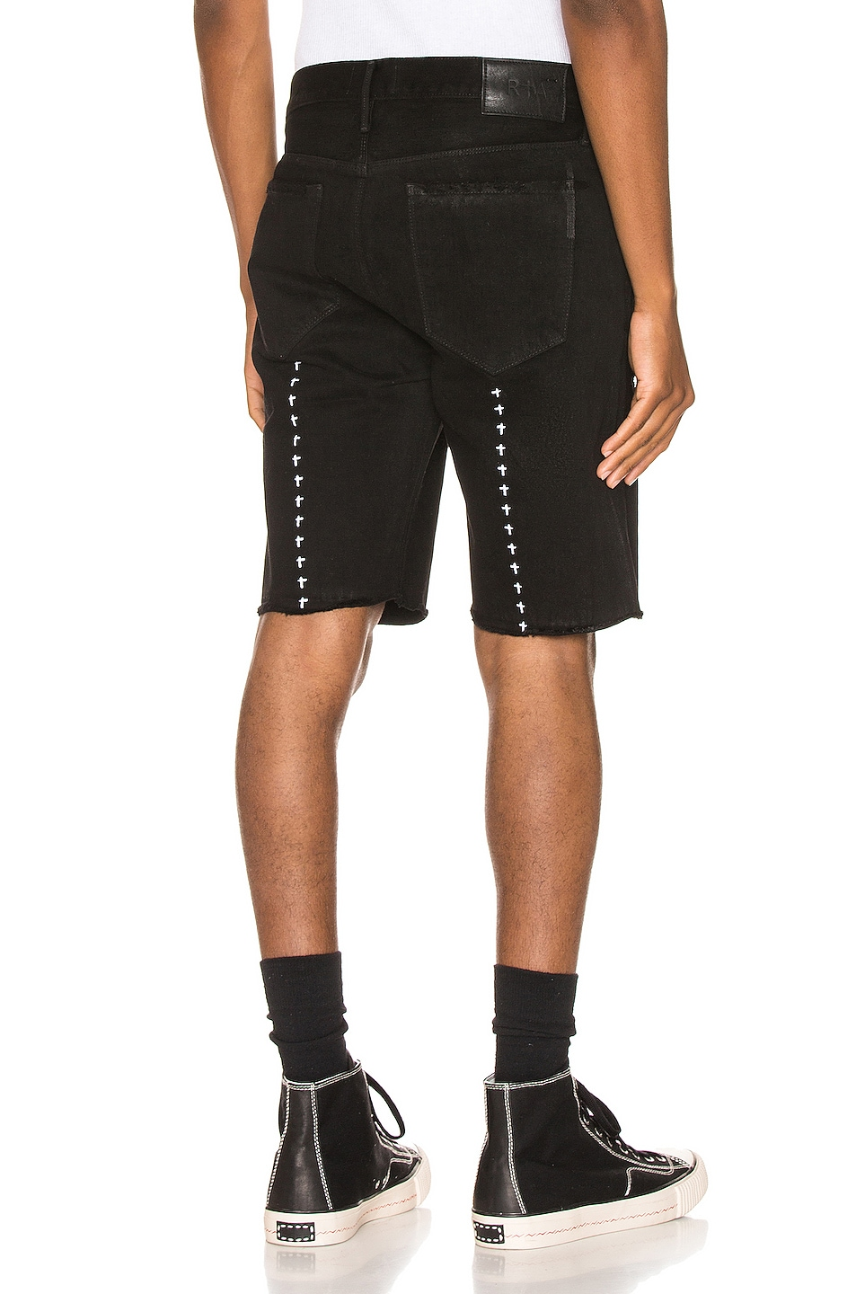 Image 1 of RtA Distressed Shorts in Black Coating