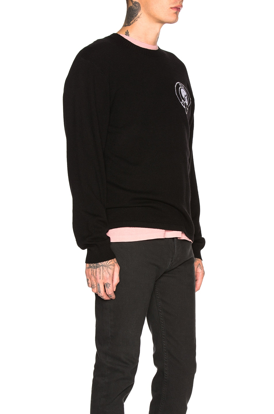 Image 2 of RtA Skull Cashmere Sweater in Black