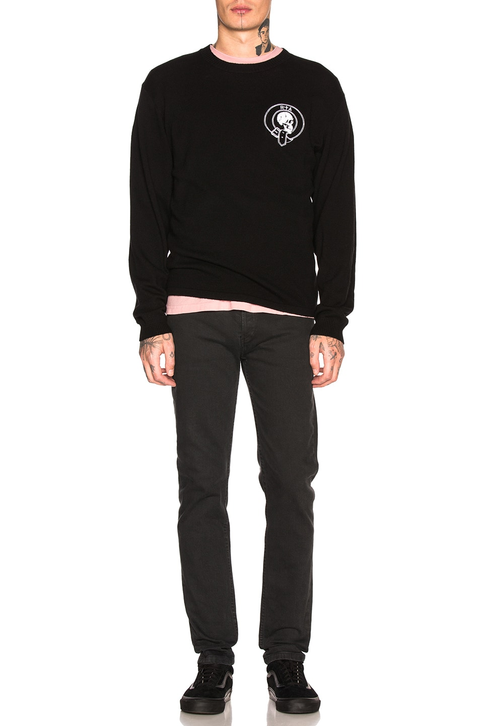 Image 4 of RtA Skull Cashmere Sweater in Black