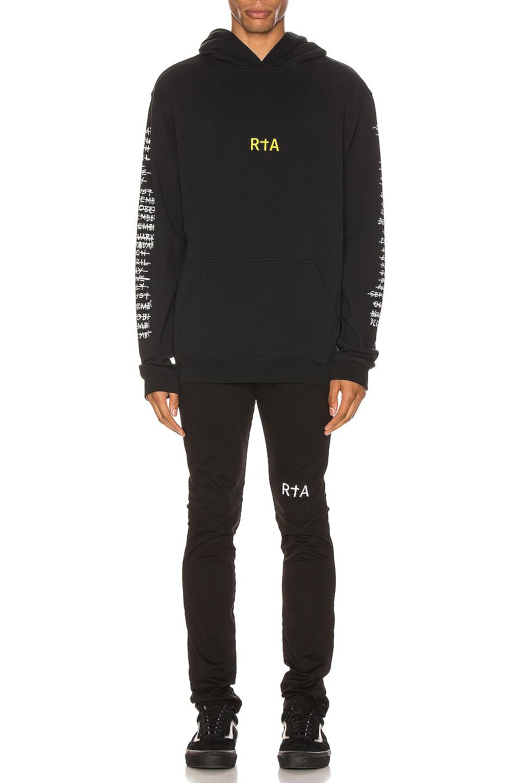 Image 6 of RtA 95 Hoodie in 5 Year Black