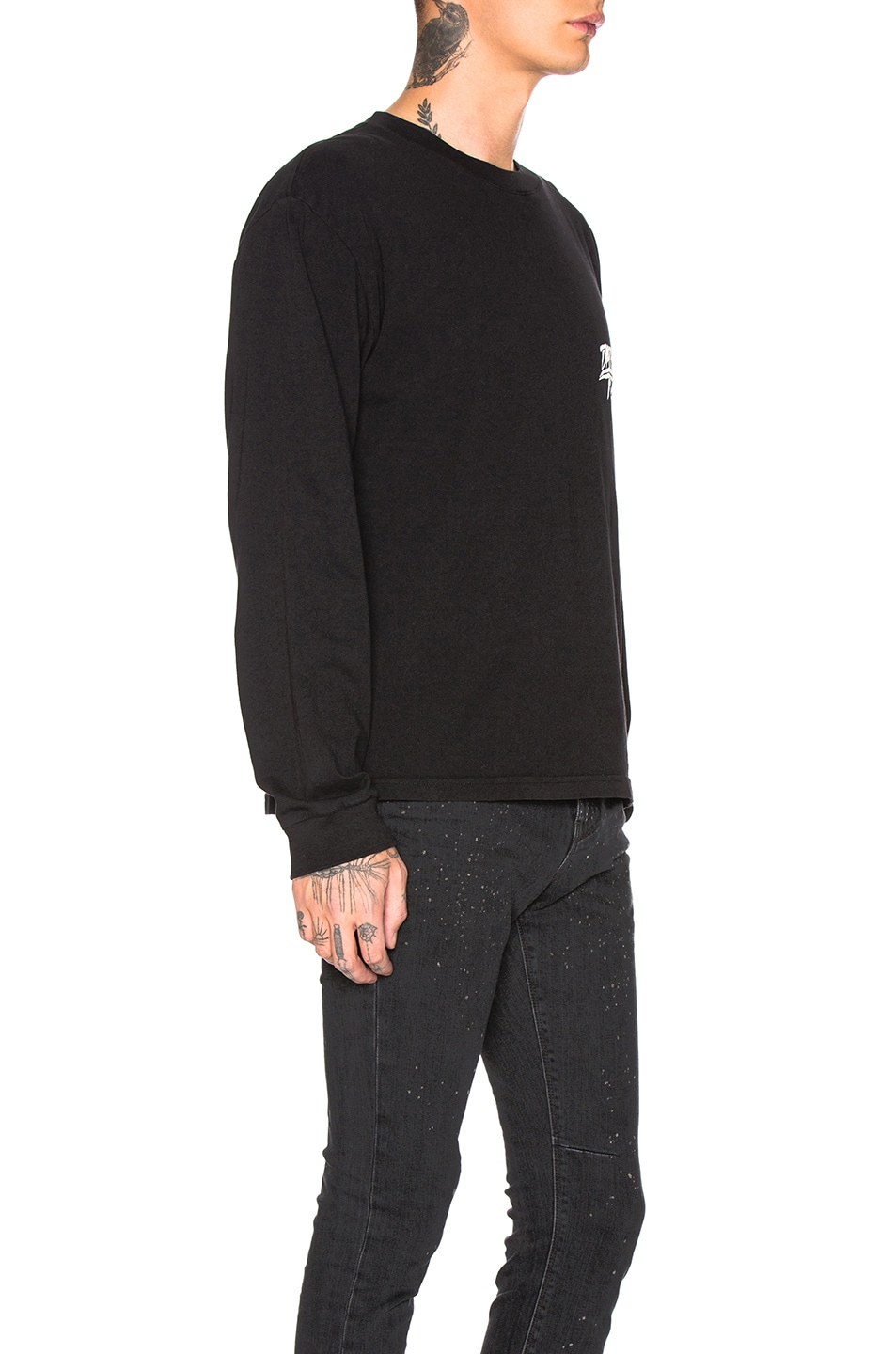 Image 3 of RtA Long Sleeve Graphic Tee in Black Crest