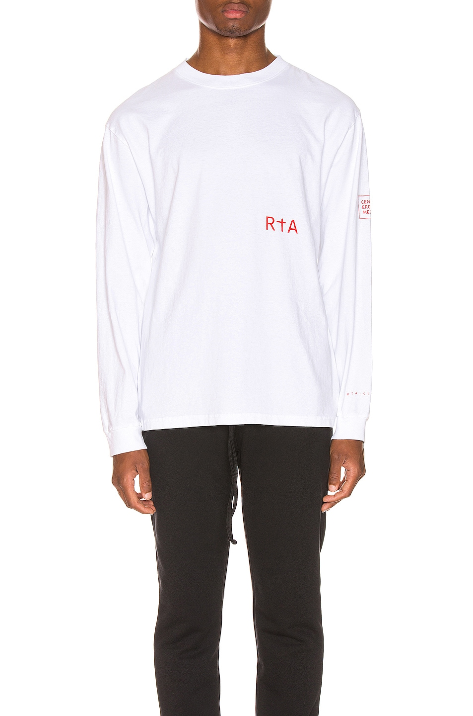 Image 2 of RtA Graphic Tee in Patient White