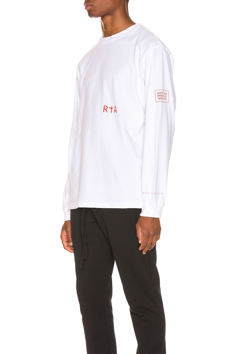 Image 4 of RtA Graphic Tee in Patient White