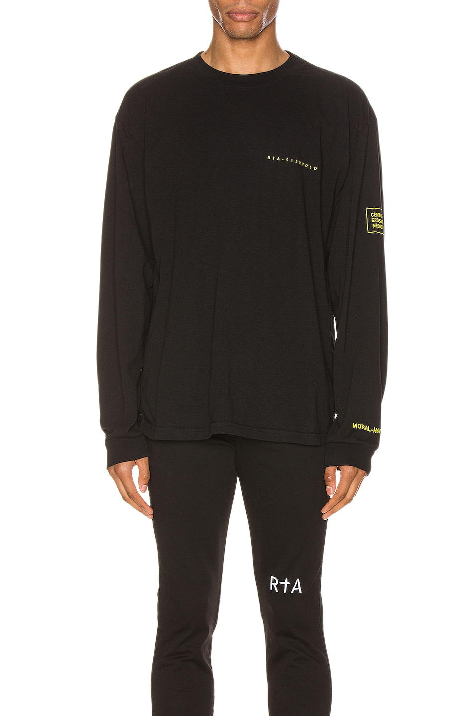 Image 2 of RtA 49 Graphic Tee in Countdown Black