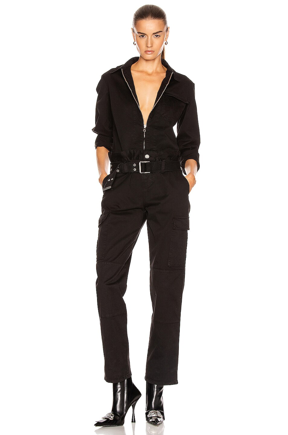 Image 1 of RtA Cisco Jumpsuit in Active Black