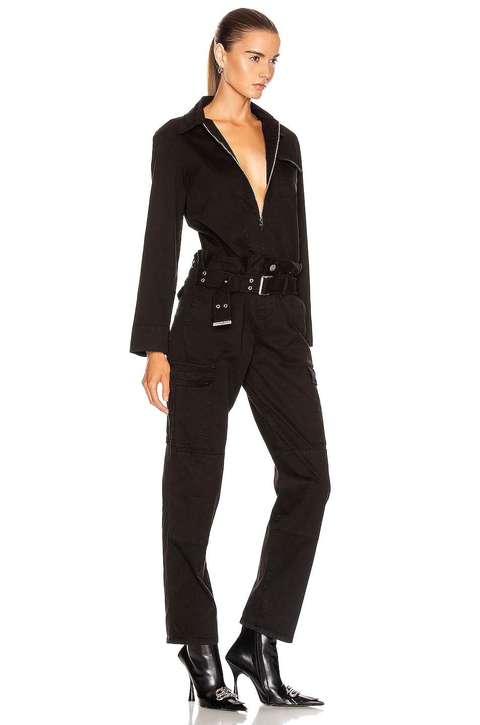 Image 2 of RtA Cisco Jumpsuit in Active Black