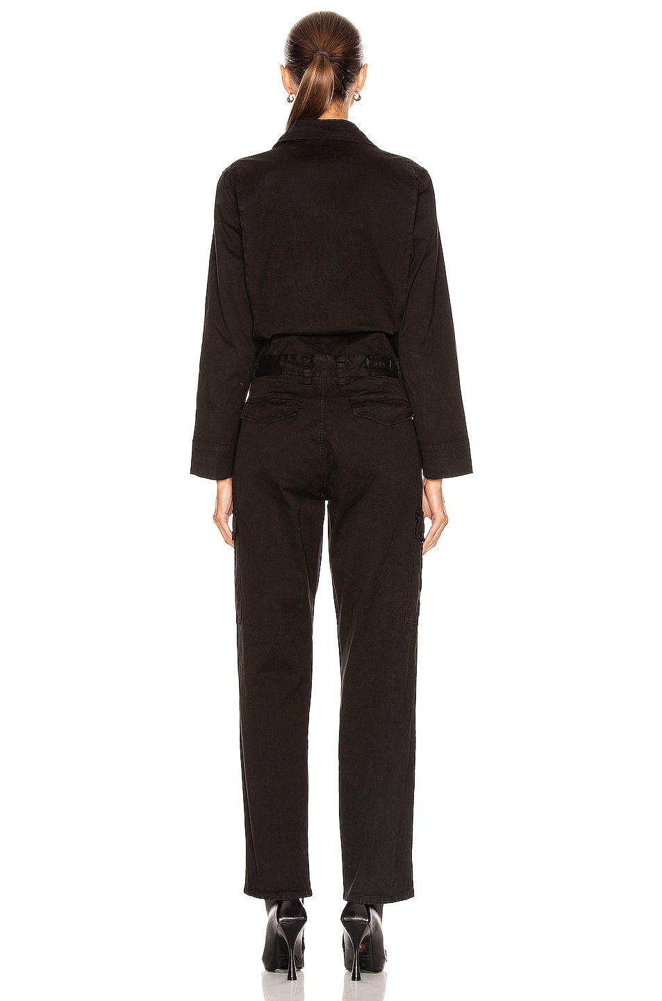 Image 3 of RtA Cisco Jumpsuit in Active Black